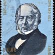 HONDURAS - CIRCA 1965: A stamp printed in Honduras shows Sir Rowland Hill, circa 1965 — Stock Photo #41424943