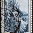 ITALY - CIRCA 1950: a stamp printed in Italy shows Girl Worker in Hemp Field, Emilia Romagna, circa 1950 — Stock Photo