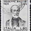 Stock Photo: ITALY - CIRC1972: stamp printed in Italy shows Giuseppe Mazzini, Patriot and Writer, Activist for Unification of Italy, circ1972