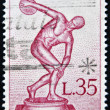 ITALY - CIRCA 1960: stamp printed in Italy shows Statue of the Myrons Discobolus, circa 1960 — Stock Photo