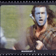 SAN MARINO - CIRCA 1995: A stamp printed in San Marino shows scene from the movie Braveheart, circa 1995 — Stock Photo #41425245