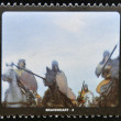 Stock Photo: SAN MARINO - CIRC1995: stamp printed in SMarino shows scene from movie Braveheart, circ1995