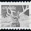 UNITED STATES OF AMERICA - CIRCA 1981: stamp printed in USA shows the elk or wapiti (Cervus canadensis), circa 1981 — Stock Photo