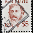 UNITED STATES OF AMERICA - CIRCA 1987: A stamp printed in USA shows Bret Harte, circa 1987 — Stock Photo