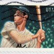 UNITED STATES OF AMERICA - CIRCA 2012: A stamp printed in USA shows Joe Dimaggio, circa 2012 — Stock Photo