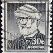 Stock Photo: UNITED STATES OF AMERICA - CIRCA 1954: a stamp printed in USA shows Portrait General Robert E. Lee, commander of the Confederate Army of Northern Virginia in the American Civil War, circa 1954