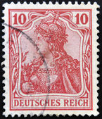 GERMANY - CIRCA 1900: A stamp printed in Germany shows Germania, mythological image of the empire, circa 1900 — Stock Photo