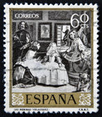 SPAIN - CIRCA 1959: A stamp printed in Spain shows Las Meninas by Velazquez, circa 1959 — Foto Stock
