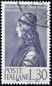 ITALY - CIRCA 1963: stamp printed in Italy shows Count Giovanni Pico della Mirandola, circa 1963 — Foto de Stock