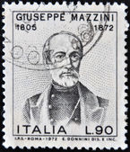 ITALY - CIRCA 1972: a stamp printed in Italy shows Giuseppe Mazzini, Patriot and Writer, Activist for the Unification of Italy, circa 1972 — Stock Photo