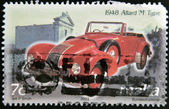 MALTA - CIRCA 2003: A stamp printed in Malta shows a car, 1948 Allard M Type, circa 2003 — Foto Stock