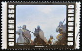 圣马力诺-大约 1995年: 在圣马力诺邮票显示场景从电影勇敢的心,大约 1995年 — 图库照片