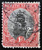 SOUTH AFRICA - CIRCA 1926: A stamp printed in South Africa shows Dromedaris (Van Riebeeck's ship), circa 1926. — Stock Photo