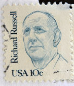 UNITED STATES OF AMERICA - CIRCA 1984: A stamp printed in USA shows Senator Richard Brevard Russell, circa 1984 — Stock Photo