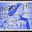 UNITED KINGDOM - CIRCA 1948: A stamp printed in Great Britain issued for the Royal Silver Wedding shows King George VI and Queen Elizabeth, circa 1948. — Stock Photo #42663009