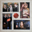 UNITED STATES OF AMERICA - CIRCA 2013: Stamps printed in USA dedicated to Harry Potter shows various scenes from his movies, circa 2013 — Stock Photo