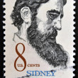 UNITED STATES OF AMERICA - CIRCA 1972: a stamp printed in USA shows Sidney Lanier, American poet, circa 1972 — Stock Photo