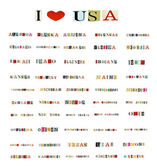 All 50 states of the United States of America formed with magazine letters on a white background — Stok fotoğraf