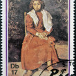 SAO TOME AND PRINCIPE - CIRCA 1981: A stamp printed in sao Tome shows The barefoot girl by Pablo Picasso, circa 1981 — Stock Photo #43705389