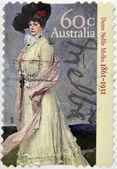オーストラリア - 2011年年頃: オーストラリアで印刷スタンプ示しますノートルダム ネリー ・ メルバ 2011年年頃 — ストック写真
