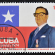 CUBA - CIRCA 1974: A stamp printed in Cuba shows Salvador Allende, circa 1974 — Stock Photo #44905065