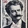MONACO - CIRCA 1975: A  stamp printed in Monaco shows image portrait of famous Austrian music composer Johann Strauss, circa 1975. — Stock Photo #44906893