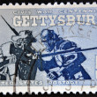 UNITED STATES OF AMERICA - CIRCA 1963: A Stamp printed in USA shows the Blue and Gray at Gettysburg, 1863, Civil War Centennial Issue, circa 1963 — Stock Photo #44907683