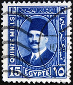 EGYPT - CIRCA 1930: a stamp printed in Egypt shows King Fuad I of Egypt, circa 1930 — Stock Photo