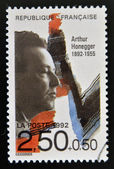 FRANCE - CIRCA 1992: A stamp printed in France shows Arthur Honegger, circa 1992 — Stock Photo
