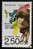 FRANCE - CIRCA 1992: A stamp printed in France shows Germaine Tailleferre, circa 1992 — Stock Photo