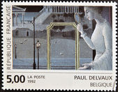 FRANCE - CIRCA 1992: A stamp printed in France shows The appointment of Ephesus by Paul Delvauxi, circa 1992 — Stock Photo