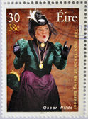 IRELAND - CIRCA 2000: a stamp printed in Ireland shows an image commemorative of The importance of being Earnest by Oscar Wilde, circa 2000. — Stock Photo