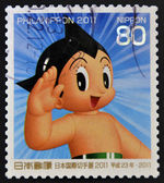 JAPAN - CIRCA 2011: A stamp printed in Japan shows Astro Boy, circa 2011 — Stock Photo