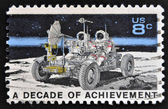 USA - CIRCA 1971: A stamp printed in United States of America shows Lunar Rover, Apollo 15 moon exploration mission July 26-August 7, circa 1971 — Stock Photo