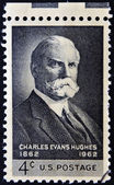 UNITED STATES OF AMERICA - CIRCA 1962: A stamp printed in USA shows portrait of Charles Evans Hughes, circa 1962 — Stock Photo