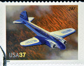 UNITED STATES OF AMERICA - CIRCA 2005: A stamp printed in USA dedicated to advances in aviation, shows Boeing 247, circa 2005 — Stock Photo