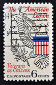 UNITED STATES OF AMERICA - CIRCA 1969: A Stamp printed in USA shows the Eagle from Great Seal of U.S., devoted to American Legion, circa 1969 — Stock Photo