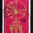 GERMANY - CIRCA 1971: A stamp printed in Germany issued for the 400th birth anniversary of astronomer Johannes Kepler shows Astronomical Calculus, circa 1971. — Stock Photo #46624365