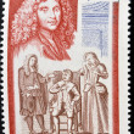 Постер, плакат: MONACO CIRCA 1973: A stamp printed in Monaco shows The Imaginary Invalid by Moliere circa 1973