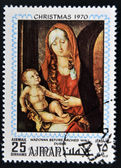 AJMAN - CIRCA 1970: Stamp printed in Ajman shows Madonna before arched wall by Durer, circa 1970 — Stock Photo