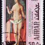 ������, ������: AJMAN CIRCA 1970: a stamp printed in Ajman shows Lucretia Painting by Albrecht Durer circa 1970