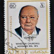 Постер, плакат: AJMAN CIRCA 1970: A stamp printed in Ajman shows Winston Churchill circa 1970