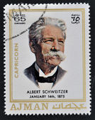 AJMAN - CIRCA 1970: A stamp printed in Ajman shows Albert Schweitzer, circa 1970 — Stock Photo