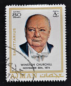 AJMAN - CIRCA 1970: A stamp printed in Ajman shows Winston Churchill, circa 1970 — Stock Photo