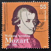 GERMANY - CIRCA 2006: a stamp printed in Germany shows image of Wolfgang Amadeus Mozart, circa 2006 — Stock Photo