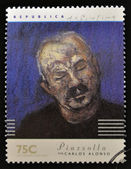ARGENTINA - CIRCA 1997: A stamp printed in Argentina dedicated to argentinian musicians, shows Piazzolla by Carlos Alonso, circa 1997 — Stock Photo