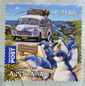 AUSTRALIA - CIRCA 2012: A stamp printed in Australia dedicated to the road trip, shows Phillip Island, circa 2012 — Stock Photo
