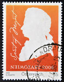 AUSTRIA - CIRCA 2006: a stamp printed in Germany shows Wolfgang Amadeus Mozart, circa 2006 — Stock Photo