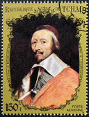 CHAD - CIRCA 1972: A stamp printed in Chad shows Cardinal Richelieu by Champaigne, circa 1972 — Stock Photo