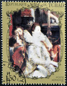 CHAD - CIRCA 1972: A stamp printed in Chad shows marriage Marie de' Medici by Rubens, circa 1972 — Stock Photo